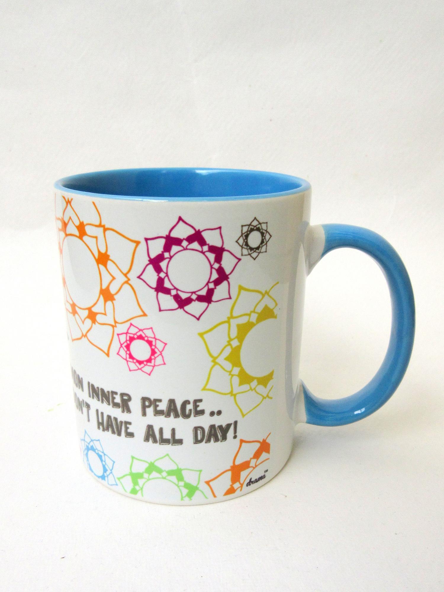 Blue yoga monkey mug drama designs for Blue mug designs